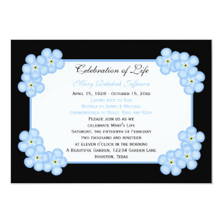 Celebration of Life Invitation -- Forget Me Nots