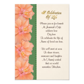 Celebration of life Invitation hibiscus