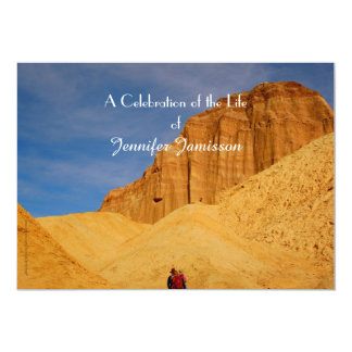 Celebration of Life Invitation, Hiking in Canyon 5x7 Paper Invitation Card