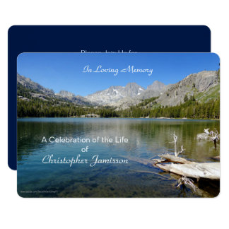 Celebration of Life Invitation, Lake Reflection Card