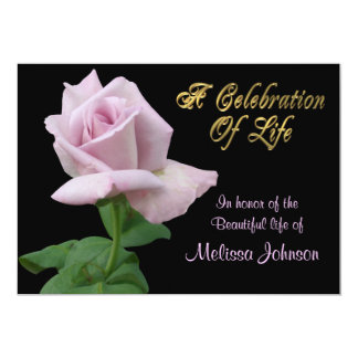 Celebration of life Invitation lavender rose