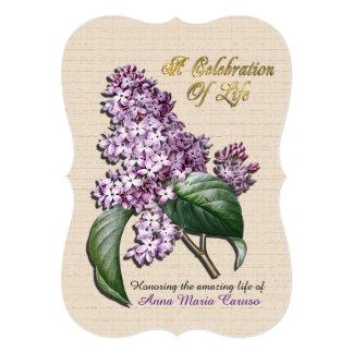 Celebration of life Invitation Lilacs