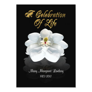 Celebration of life Invitation magnolia