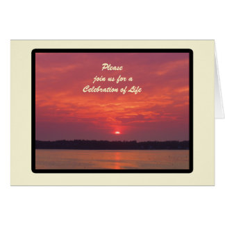 Celebration of Life Invitation, Maine Sunset Card