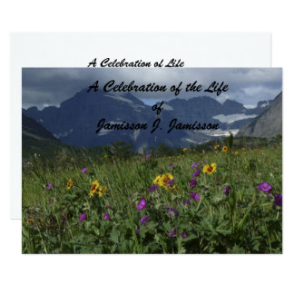 Celebration of Life Invitation Mountain Wildflower