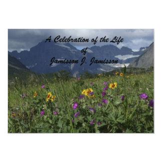 "Celebration of Life Invitation Mountain Wildflower 5"" X 7"" Invitation Card"