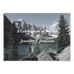 Celebration of Life Invitation Mountains Lake Custom Invites