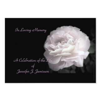 Celebration of Life Invitation Pale Pink Rose Invite