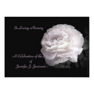 Celebration of Life Invitation Pale Pink Rose