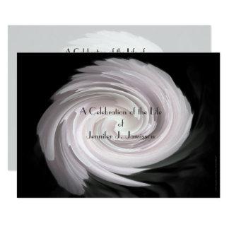 Celebration of Life Invitation Pale Pink Swirl