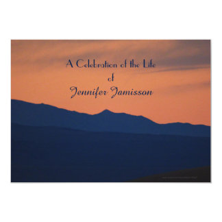 Celebration of Life Invitation, Simple Sunset 5x7 Paper Invitation Card