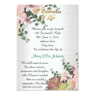 Celebration of life Invitation Spring Floral