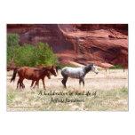 Celebration of Life Invitation, Three Horses Card
