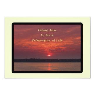 "Celebration of Life Invitations 5"" X 7"" Invitation Card"