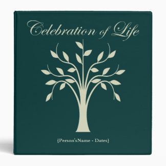 Celebration of Life Memorial Guest Book 3 Ring Binder
