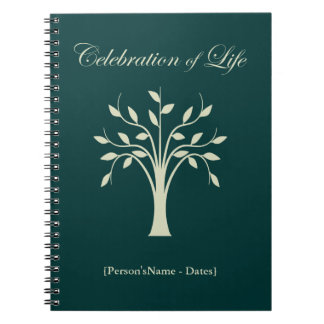 Celebration of Life Memorial Guest Register Spiral Note Book