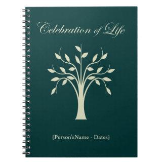 Celebration of Life Memorial Guest Register Spiral Note Book