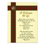 Celebration of life memorial invitation for man