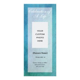 Celebration of Life Memorial Photo handout card