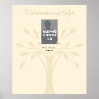 Celebration of Life Memorial Poster