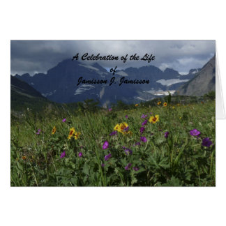 Celebration of Life Note Card Invitation
