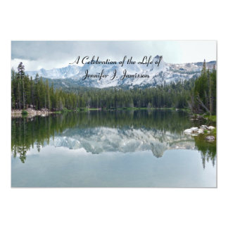 Celebration of Life Reflection Mountain Lake Card
