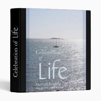Celebration of Life Seascape 1 Memorial Guest Book Binder