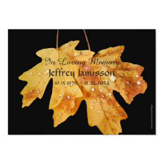 Celebration of Life Service Invitation, Raindrops Card