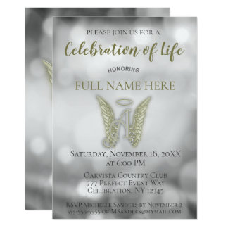 Celebration of Life - Silver and Gold Card