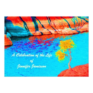 Celebration of Life, Single Tree by Lake/Mountains