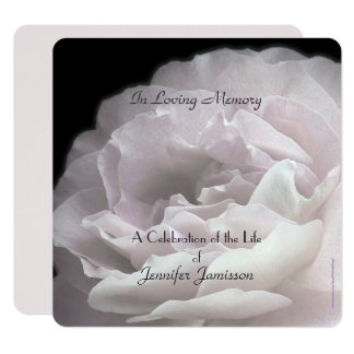 Celebration of Life Square Invite Pale Pink Rose