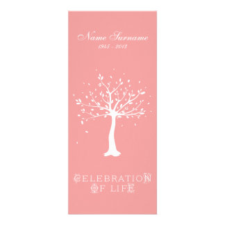Celebration of Life with Photo Elegant Tree Personalized Announcement