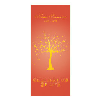 Celebration of Life with Photo Elegant Tree Announcement