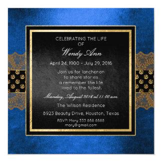 Celebration of Live Live Cobalt Silver Gold Lace Card