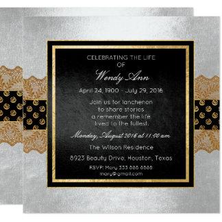 Celebration of Live Live Silver Gold Lace Card