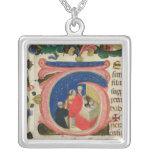 Celebration of the Eucharist Square Pendant Necklace