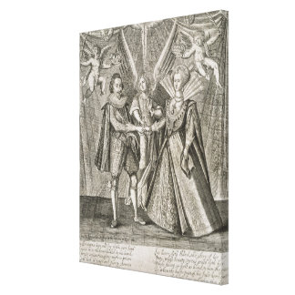 Celebration of the Marriage of James VI and I (156 Canvas Print