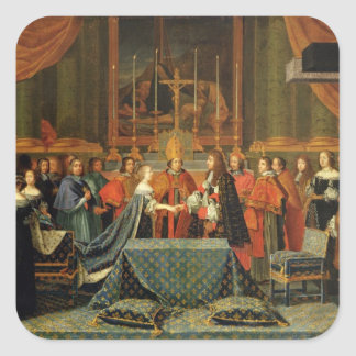 Celebration of the Marriage of Louis XIV Square Sticker