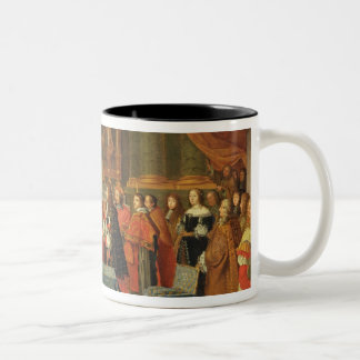 Celebration of the Marriage of Louis XIV Two-Tone Coffee Mug