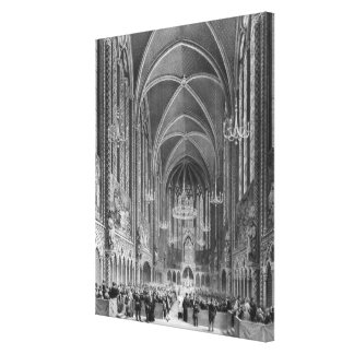 Celebration of the mass for the magistrature canvas print