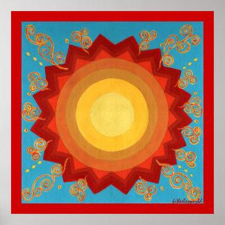 Celebration Of The Sun- Global Art Canvas Print