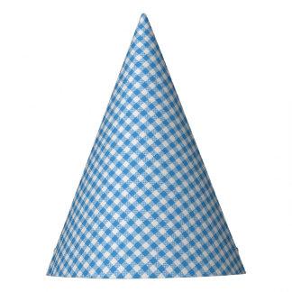 Celebration Party Blue Plaid Party Hat