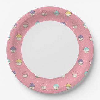 Celebration Party Frosted Cupcake Favorites Paper Plate