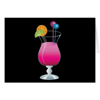 Celebration Pink Cocktail Greeting Card