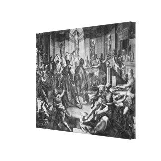 Celebration Scene, 1588 Canvas Print
