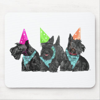 Celebration Scotties in Party Hats Mouse Pad