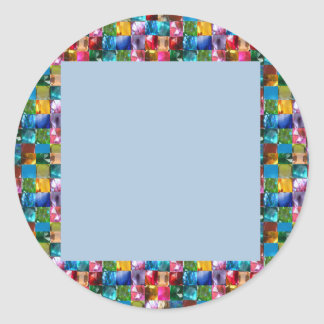 Celebration Shades GEMS JEWELS PEARLS DECORATIONS Classic Round Sticker