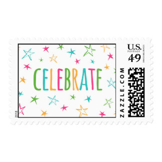 Celebration Stamps Colorful Stars
