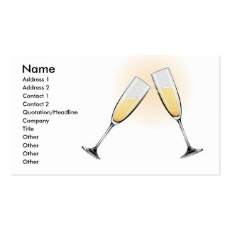 Celebration Toast Champagne Glasses Double-Sided Standard Business Cards (Pack Of 100)