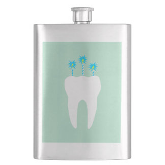 Celebration Tooth with Candles Flask